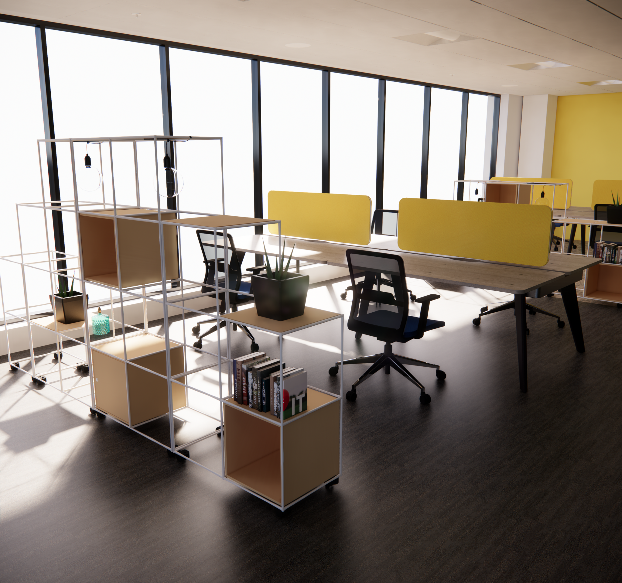 Does the evolution of the workplace mean more open or more private?